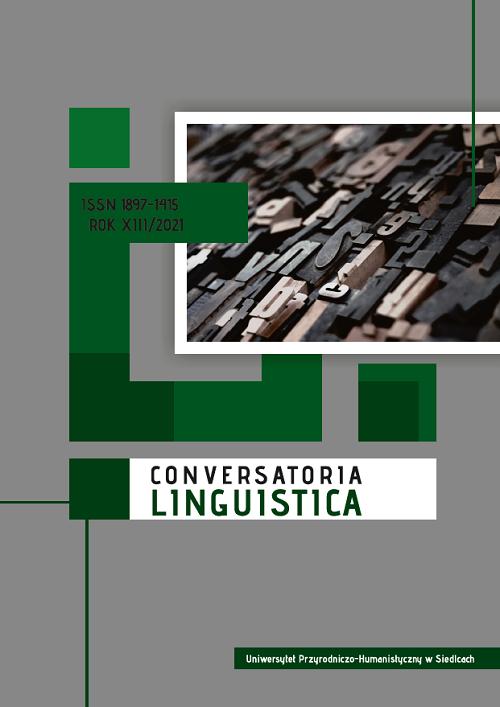 Okładka czasopisma Conversatoria Linguistica