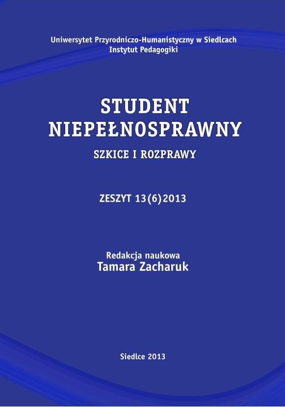 Student Niepełnosprawny 2013