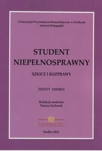 Student Niepełnosprawny 2012