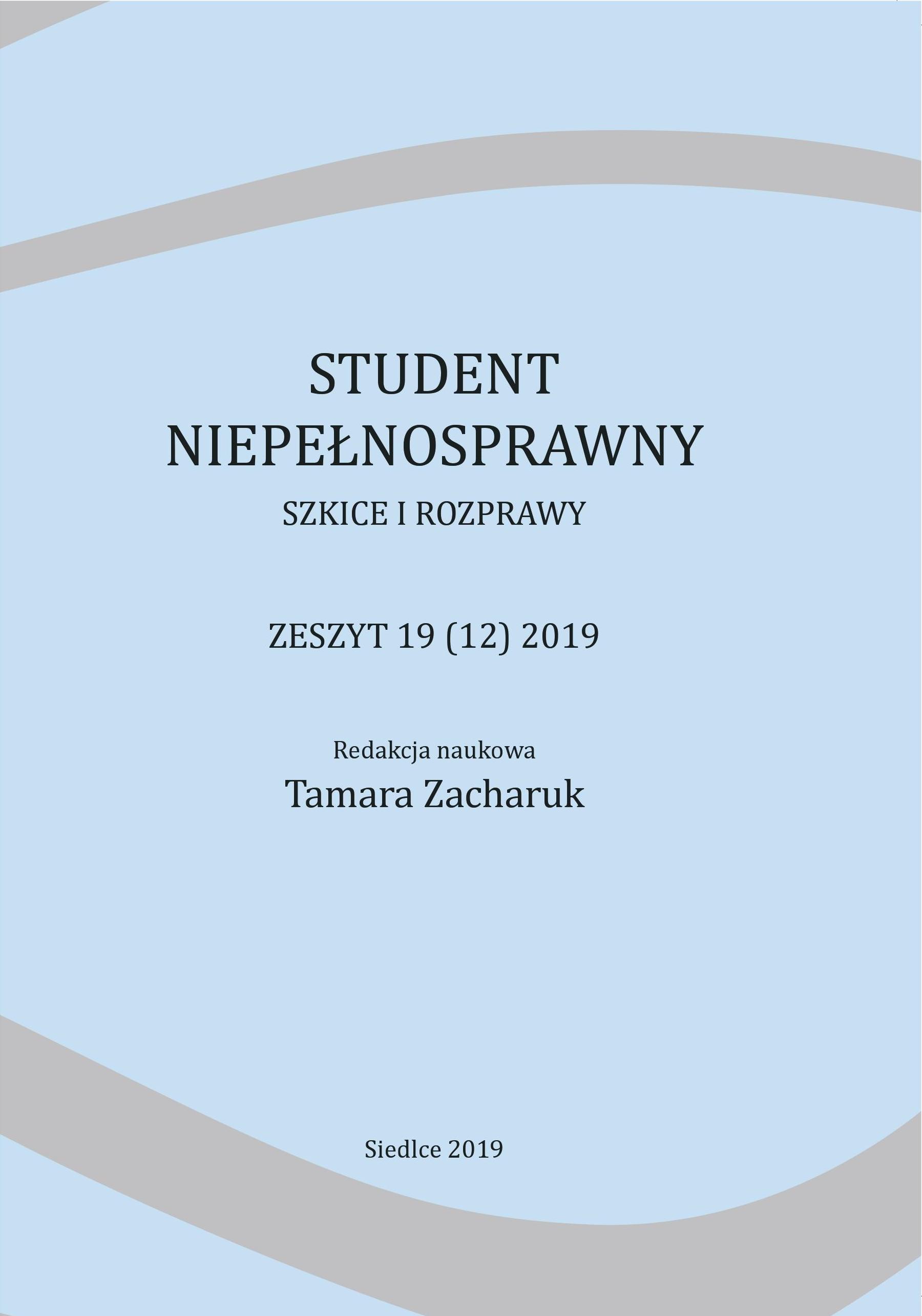 Student Niepełnosprawny 2019
