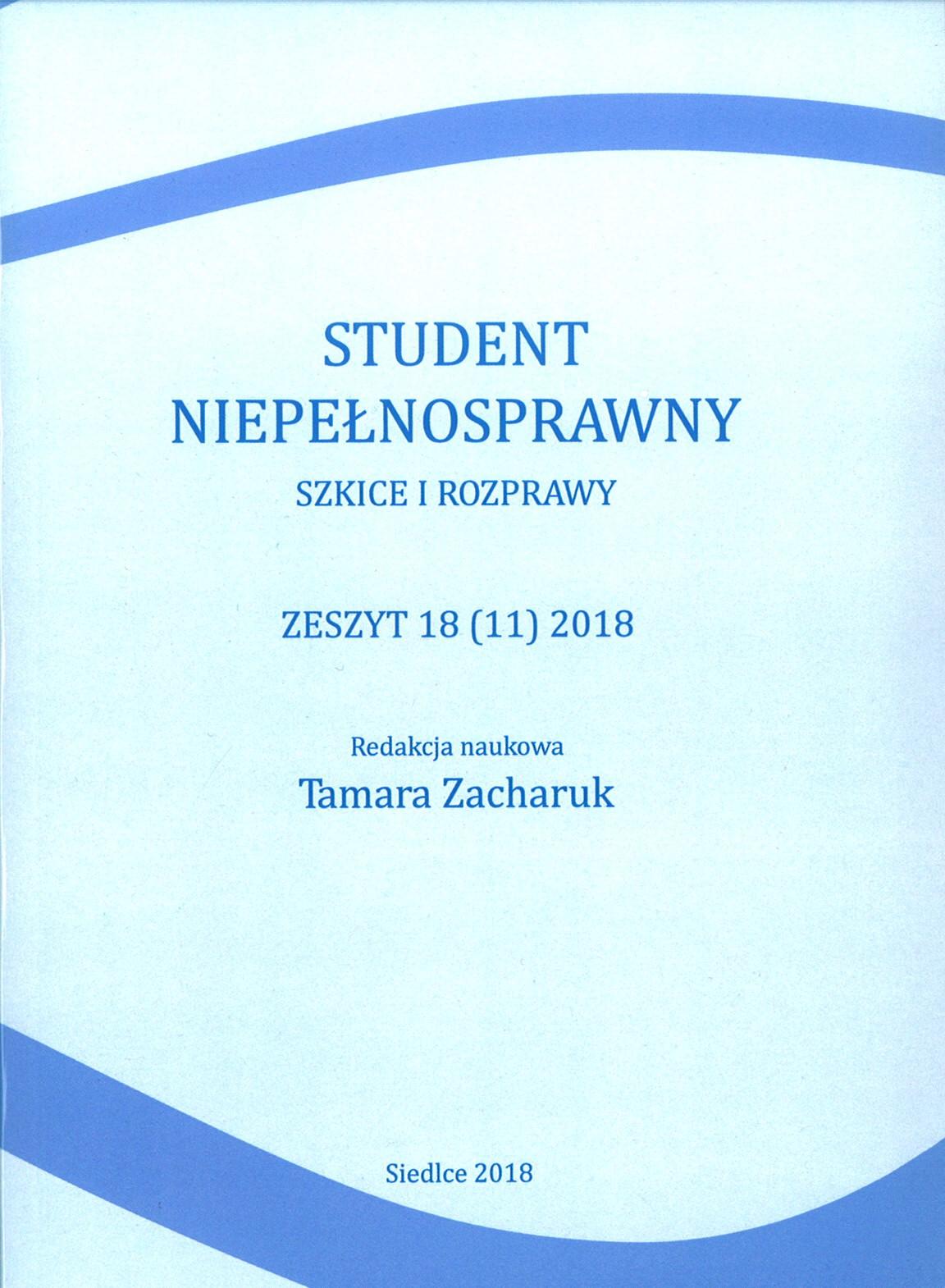 Student Niepełnosprawny 2018