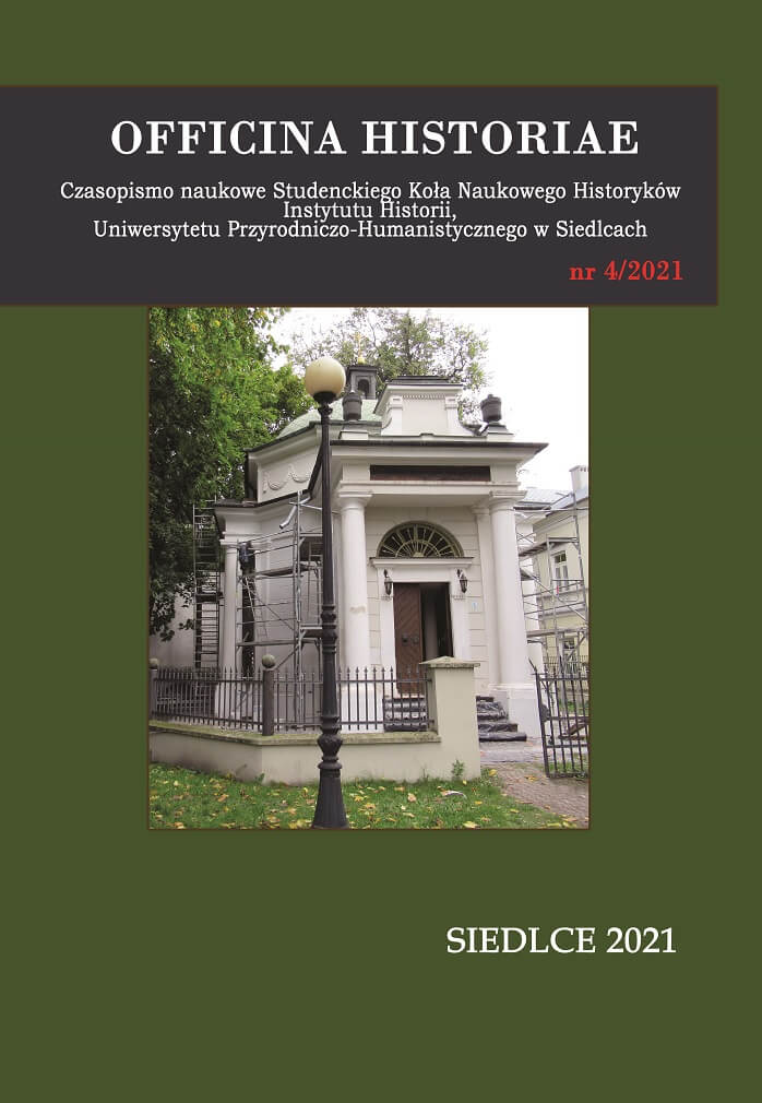 Officina Historiae - okładka czasopisma