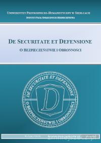 Okładka czasopisma De Securitate et Defensione. O Bezpieczeństwie i Obronności