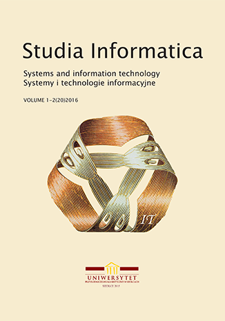 Cover of the Studia Informatica. Systems and Information Technology